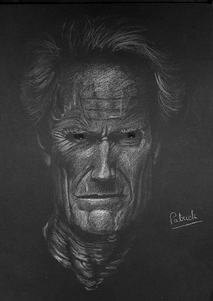Clint Eastwood by Sculptif